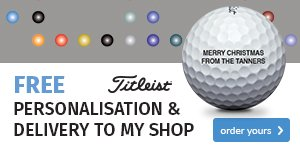Titleist free ball personalisation - from €25