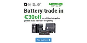 Motocaddy Battery Trade In  - Get €30 Off